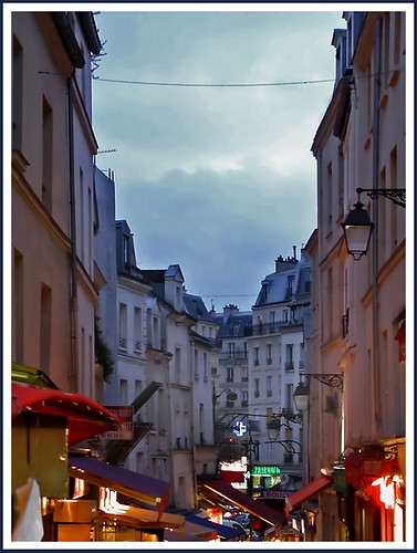 La Rue Mouffetard, Latin Quarter, Paris by Rita Crane Photography.