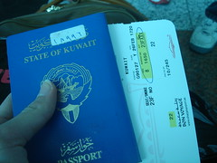 Back to Kuwait (JeNaN JaMaL) Tags: blue airport kuwait passport q8 kwt kuw
