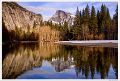 Half Dome on Merced (Thi) Tags: river merced yosemite dome half halfdome yosemitevalley mercedriver yosemitewinter