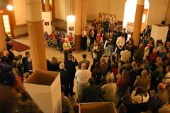 Governor Sebelius Speaks to Crowd