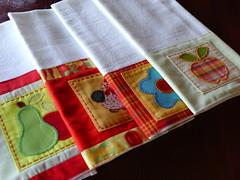 PANOS DE PRATO - MUITAS ENCOMENDAS!!!! (Adoro Fazer) Tags: patchwork cozinha aplicao panosdeprato panosdecopa
