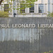 J Paul Leonard Library Sign
