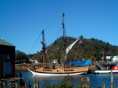 The Lady Washington moored in Aberdeen, WA. (jc.winkler) Tags: ladywashington aberdeenwa