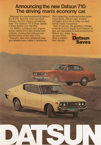 Datsun fuel efficiency ad