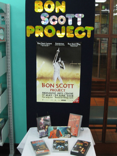 fremantle library bon scott display