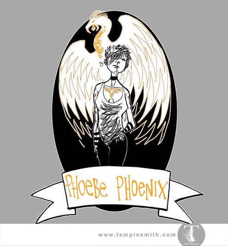 Wormwood Pint Glasses: Phoebe Phoenix