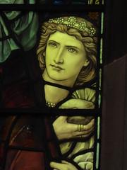 Woman with Tiara (Aidan McRae Thomson) Tags: tamworth church staffordshire stainedglass preraphaelite henryholiday