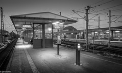 Silence before the train! (Molin2010) Tags: denmark copenhagen hellerup trainstation blackandwhite