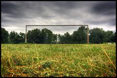 donauinsel kick it (Andres Franz Gessl) Tags: vienna wien austria goal fussball soccer rusty tor hdr donauinsel donauradwanderweg