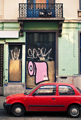 pq (LukeDaDuke) Tags: street brussels urban streetart pasteup art window poster graffiti artist belgium belgique belgie bruxelles urbanart artists brussel belgica pq belgien