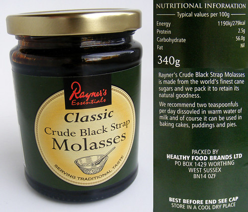 Molasses, crude black strap