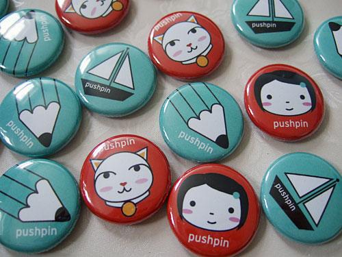 pushpin badges