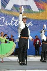 El Conjunto Maucó interpretando Música y Danzas de Chiole. VII Encuentro del Adulto Mayor. Quinta Vergara, Viña del Mar. Al centro Hugo Vargas, septiembre de 2005.