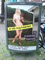 poster in the city of Amsterdam: De Vliegende Panters (Posters in Amsterdam by Jarr Geerligs) Tags: city rotting amsterdam poster posters jona arjan benning bloot jarr geerligs takenin2007 studiojona wwwpostersinamsterdamcom postersinamsterdam 222page03 rottinginterview