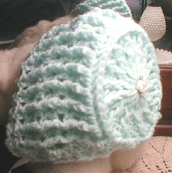 Elizabeth Crochet Hat Pattern For Child : Elizabeth Baby Bonnet Free Crochet Pattern from the Baby ...