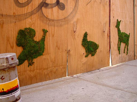 Moss Graffiti Animals 1