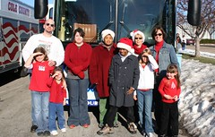 MRRL's bookmobile and staff in Jaycees Parade 2006