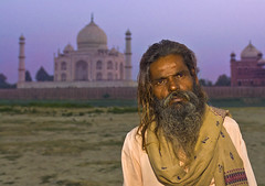 Alone at the Taj (Stuck in Customs) Tags: world travel light sunset portrait panorama india art beautiful yoga beard photography photo nikon colorful pretty alone photographer sad dynamic stuck gorgeous indian details tomb dream taj mahal tajmahal agra fresh divine professional adventure international mausoleum photograph wise stunning pro haunting lonely local curious top100 wisdom charming foreign fabulous plans hindu technique crypt hdr tutorial trey hindi guru customs artisitic engaging thetaj travelphotography ratcliff hdrtutorial stuckincustoms treyratcliff