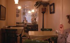 In the Blue Parrot (Fraser P) Tags: mirror cafe edinburgh jane cigarette audrey fraser