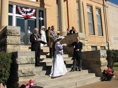 Reenactment of the wedding between Mr. Oklahoma Territory and Miss Indian Territory
