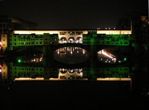 Ponte Vecchio in verde
