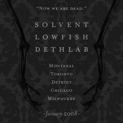 Now We Are Dead Tour teaser flyer