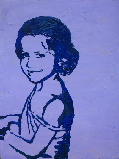 Stencil Portrait - Karen's daughter