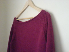 Boatneck sweater completed