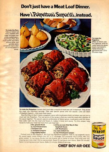 Vintage Ad #434: Polpettoni Saporiti, Chef Boy-ar-Dee Style