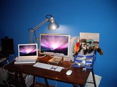 My desk setup (simonech) Tags: apple desk macbook