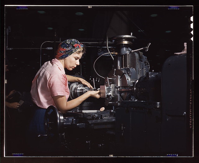 Woman machinist, Douglas Aircraft Company, Long Beach, Calif. (LOC)