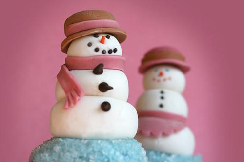 Snowcouple cupcakes