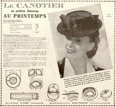 canotier print (pilllpat (agence eureka)) Tags: magazine chapeaux 50s mode 40s revue