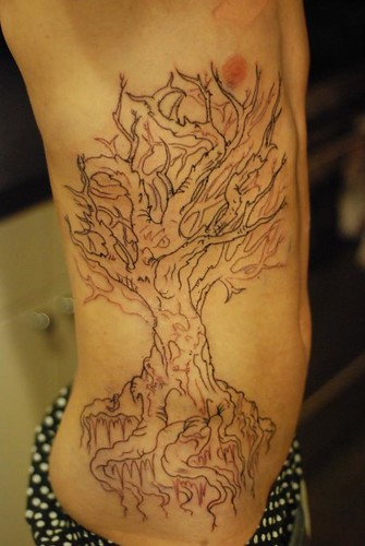 Sky's new Tree Tattoo
