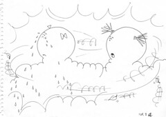A quarrel in the cloud (Three is a cloud) Tags: sky cloud tears crying windy shout quarrel childrenbooks
