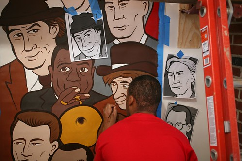 Masheka painting Will Rogers