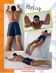 Muscle Man flying pose (buddy_scalera) Tags: pose book fly flying photo jump jumping model artist comic action muscle buddy superman superhero muscleman leap leaping reference scalera posefile
