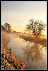 Misty River. (numanoid69) Tags: winter cold reflection water misty river landscape dawn countryside frost foggy freezing gloucestershire daybreak icey riverfrome avision almostanything nikond300 absolutlystunningscapes
