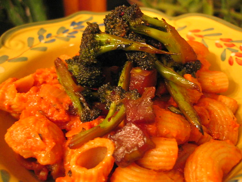 Pasta With Braised Broccoli And Tomato Recipe — Dishmaps