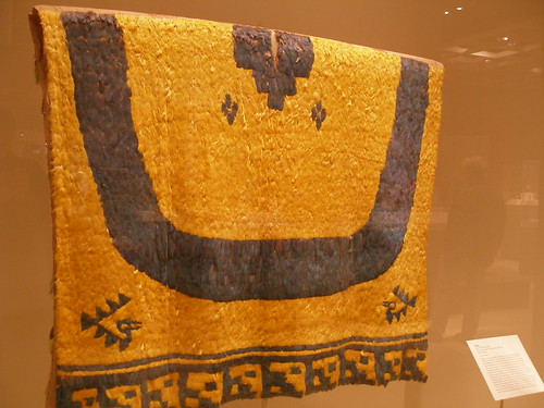 featherwork ancient peru inca amazon