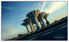 The Towers ... (Bally AlGharabally) Tags: blue sky water photographer designer towers kuwait rai bally gharabally algharabally