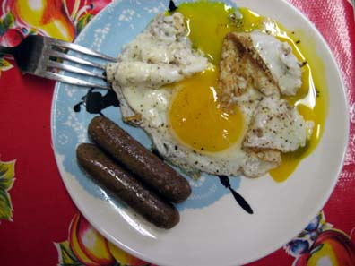 Eggs and (veggie) Sausage