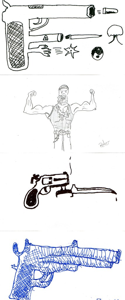 Tattoo Gun Drawings