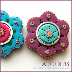 Polymer Clay Flower Magnet (Iris Mishly) Tags: ceramica art mobile cane arcoiris pen israel beads keychain hand heart handmade jewelry charm pillow polymerclay fimo clay canes bead handcrafted pens custom recycle decor magnet charms hanger classes polymer millefiori embelishment arcila ceramicaplastica irismishly   polimerica customorder arcillapolymerica