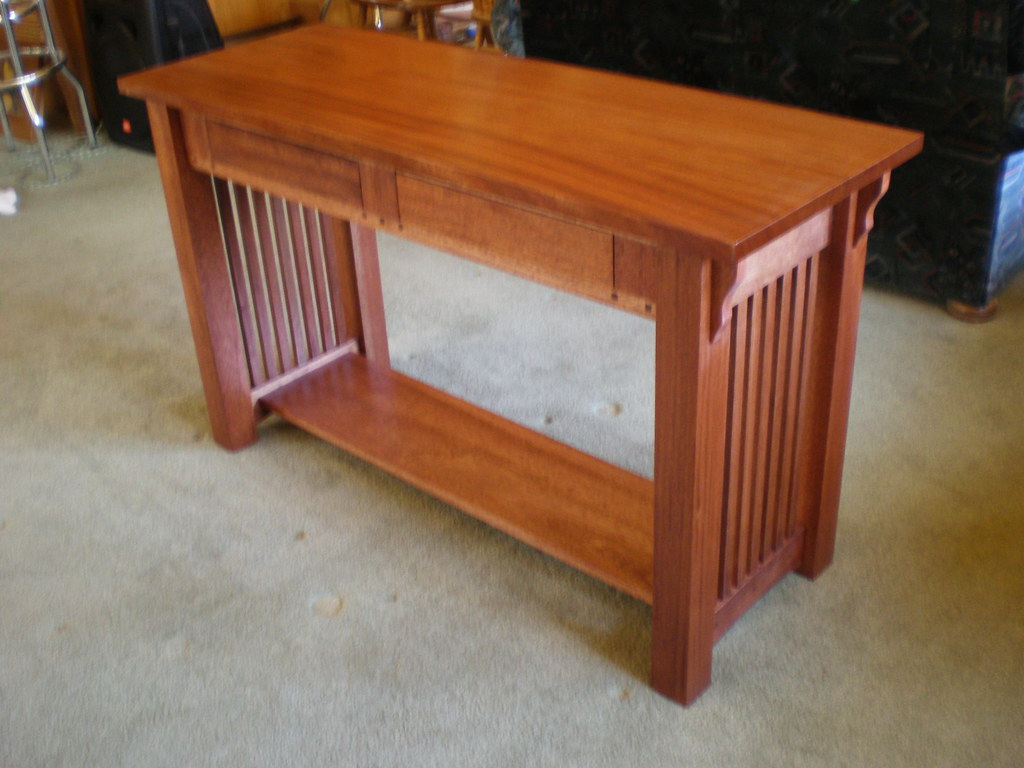 MAHOGANY ARTS AND CRAFTS SOFA TABLE