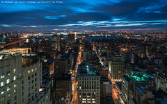 Morning View (20170205-DSC02842) (Michael.Lee.Pics.NYC) Tags: newyork newyorkeditionhotel metlifetower clocktower kipsbay eastriver queens morning dawn sunrise bluehour longexposure night aerial architecture cityscape sony a7rm2 zeissloxia21mmf28