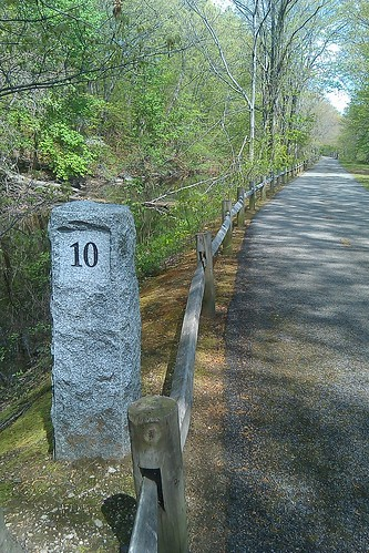 Blackstone Valley Bike Path - 10 mile marker
