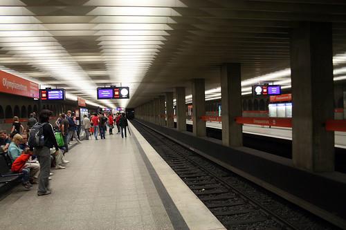 U-Bahn Haltestelle Olympiazentrum