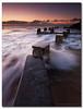 Stepping Stones (danishpm) Tags: ocean pool sunrise canon sydney wave australia wideangle nsw splash aussie aus 1020mm manfrotto coogeebeach sigmalens eos450d 450d sorenmartensen hitechgradfilters 09ndreversegrad