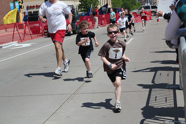Med City Kids Marathon - Benjamin finishing